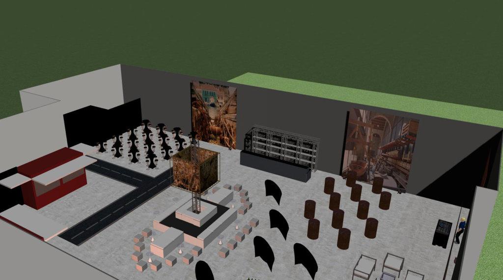 Ansicht in 3D einer geplanten Eventfläche