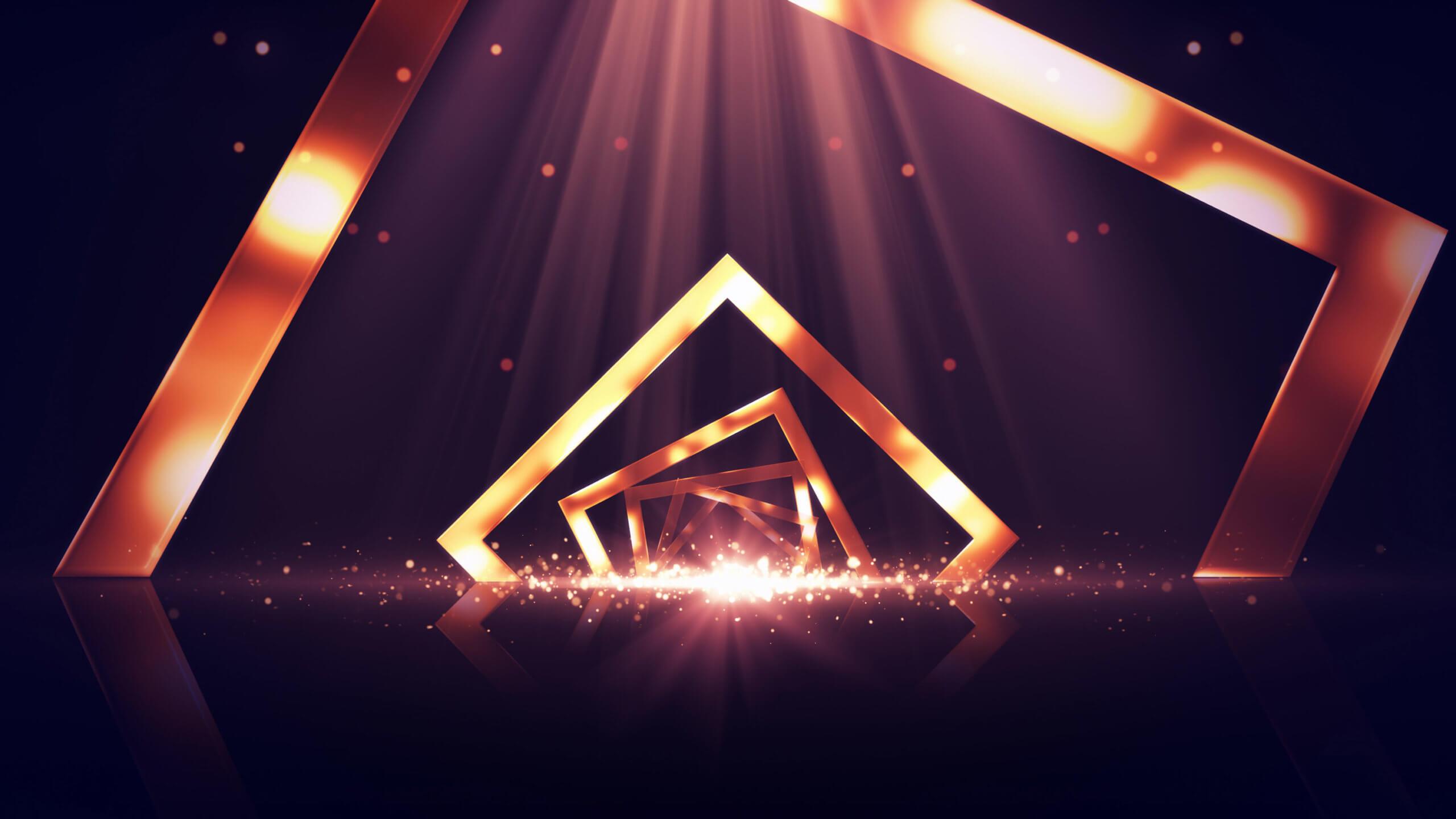 Leuchtender Hintergrund einer Bühne, Bühnenbild